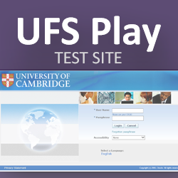 UFS Play - training and testing only